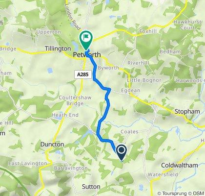 Bignor Park Road, Bignor, Pulborough to Petworth House, Church St, Petworth