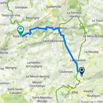 De 115 La Lauvière, Vire à 7 Route de Caen, Pont-Farcy