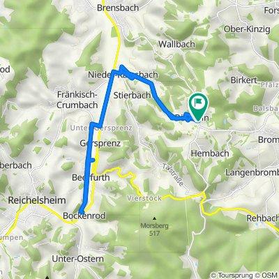 Kirchbrombacher Straße 4, Brombachtal nach Erbacher Straße 4D, Brombachtal