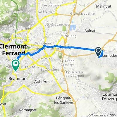 De 16 Rue du Lac Pavin, Lempdes à 23 Rue de Cotepet, Clermont-Ferrand