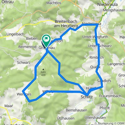 Bornwiesenweg 20, Grebenau nach Alsfelder Warte 27, Grebenau