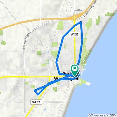 120 S Wisconsin St, Port Washington to 110 S Wisconsin St, Port Washington