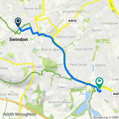 Route to 7 Boyton Close, Swindon