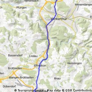 Direkte Strecke Seuzach-Volketswil