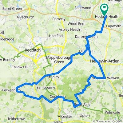 Astwood Bank back route - Cafe or Botany 35 miler