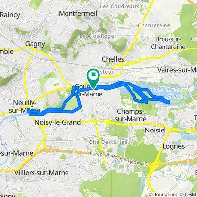 De Promenade André Ballu 16, Gournay-sur-Marne à Promenade André Ballu 16, Gournay-sur-Marne