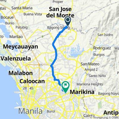Q3H8+WVP, San Jose del Monte City to Anonas 39, Quezon City