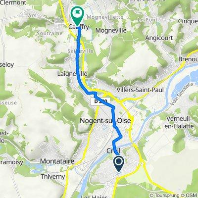 De 1–1153 Impasse de Champagne, Creil à 7–9 Impasse Frémion, Cauffry