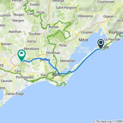 1527 Promenade du Maréchal Leclerc, Sète to Route de Bessan, Béziers