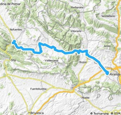 Ruta EBRO 2011 - ETAPA 04 - MIERCOLES 13 DE JULIO - TRESPADERNE- CRUCE PUENTE PISTA A CILEPERLATA 1 - CRUCE QUINTANASECA CIBERPERLATA PISTA 5 - QUINTANASECA 9 - FRIAS 12 - MONTEJO DE CEBAS 15 - Quintana martin galindez 19 - barcina del barco 24 - GAROÑA 25 - PUENTE TOBALINA 30 - puentelarra 43 - fontecha 46 - LANTARON 48 - zubillaga 50 -  MIRANDA DE EBRO -  57 km
