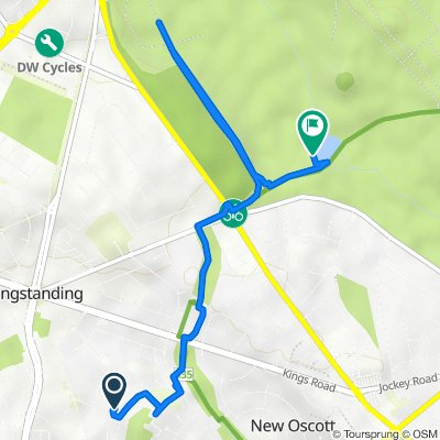 Route from 108 Sidcup Road, Birmingham