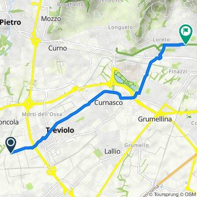 Da Via Enrico Frizzoni 60a–60c, Treviolo a Via Francesco Coghetti 14, Bergamo