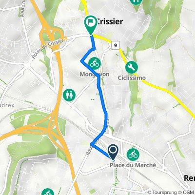 Avenue d'Epenex, Chavannes-Renens nach Route de Crissier, Crissier