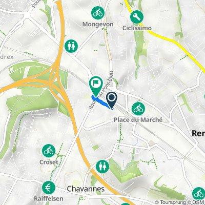 Avenue d'Epenex 4, Renens VD nach Route du Pont Bleu, Ecublens VD
