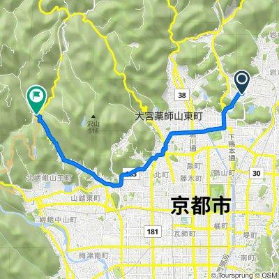 18, Iwakurakitaikedacho, Sakyo, Kyoto to 2, Umegahatamakinoocho, Ukyo, Kyoto