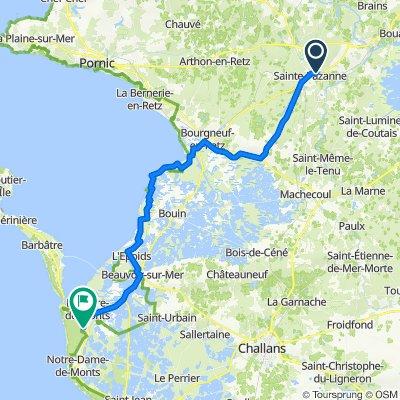 Itinéraire à partir de 7 Avenue de Beau Soleil, Sainte-Pazanne