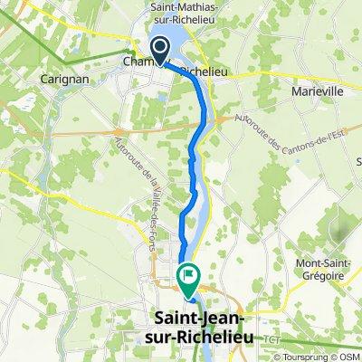 De 1635 Boul de Périgny, Chambly à 454–480 Rue Champlain, St-Jean-sur-Richelieu