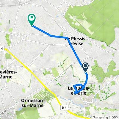 De Chemin du Plessis-Trévise à La Queue-en-Brie, Le Plessis-Trévise à 12 Avenue du Parc, Champigny-sur-Marne