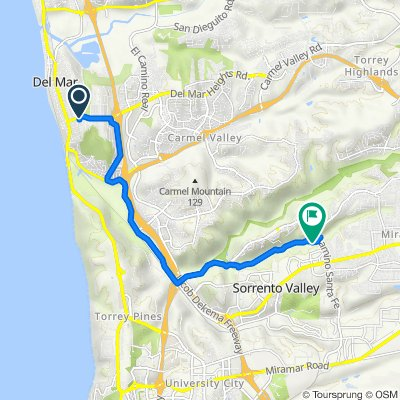 Route from 13792 Pine Needles Dr, San Diego