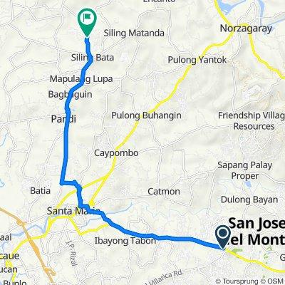 Route from Bulacan, San Jose del Monte City