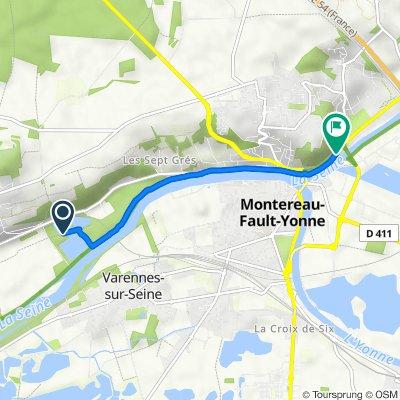 Itinéraire vers Quai de Seine Amont, Montereau-Fault-Yonne
