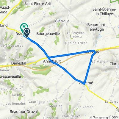 De D45, Branville à D45, Branville