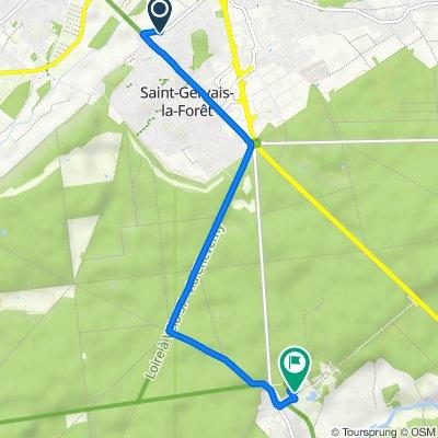 Itinéraire à partir de 3A Route de Chambord, Saint-Gervais-la-Forêt
