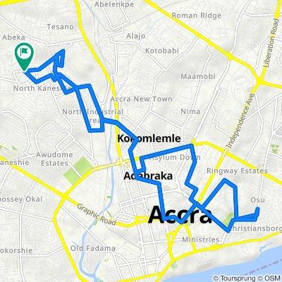 3rd Mukose link 14, Accra to 3rd Mukose link 14, Accra