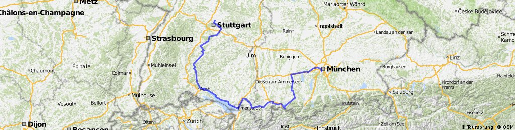 Map Of South Germany.Touring In South Germany From Munich To Stuttgart Bikemap Your