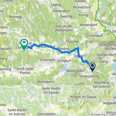 Flamhofweg 39, St. Nikolai im Sausal nach Neudorfegg 56, Stainz