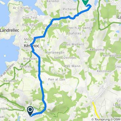 Route nach SuperU