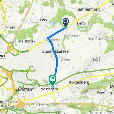 Haachtsesteenweg 14, Kampenhout to Perronstraat 6, Zaventem