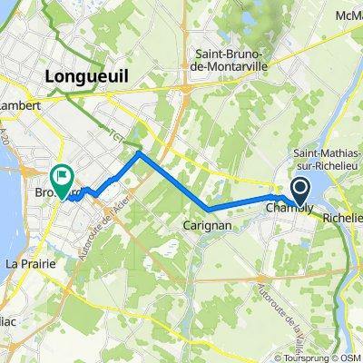 1737 Av Bourgogne, Chambly to 2200 Rue Nancy, Brossard