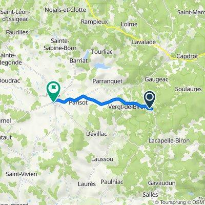 De 8 Le Bourg, Biron à 361 Place de la Halle, Villeréal
