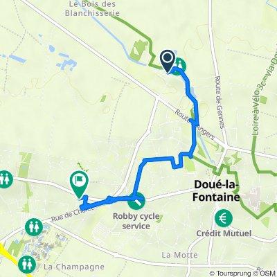 De Route des Blanchisseries, Doué-en-Anjou à Rue de Soulanger 13, Doué-en-Anjou