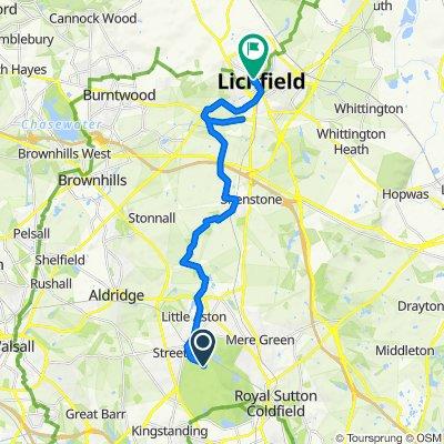 Sutton Park to Lichfield