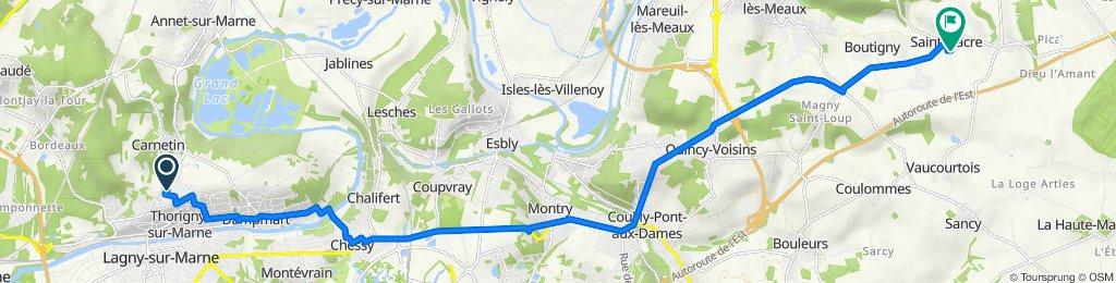 De 14 Rue d'Annet, Thorigny-sur-Marne à 9 Rue du Colombier, Saint-Fiacre