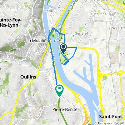 De Allée Pierre de Coubertin 24, Lyon à Boulevard de l'Europe 18, Pierre-Bénite