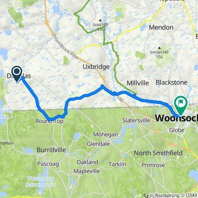 Douglas to Woonsocket