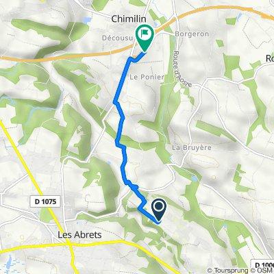 Chemin des Vignes, Les Abrets naar D82n, Chimilin