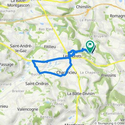 Chemin des Châtaigniers, Les Abrets naar 28 Chemin de Véroud, Les Abrets