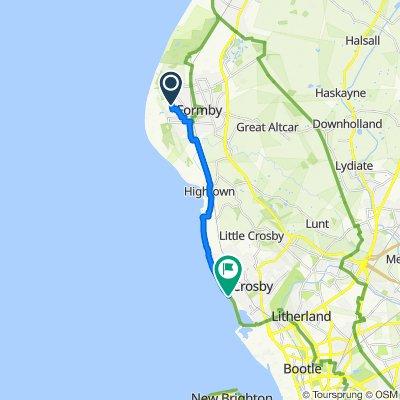 65–83 Larkhill Lane, Formby, Liverpool to Promenade, Brighton-Le-Sands, Liverpool