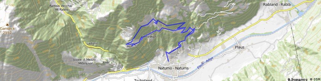 10-Naturns- Sonnenberg- Rofen- Innerforch- Unterstell- Rofen- Naturns