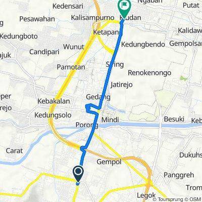 Jalan Raya Kejapanan No.13, Kecamatan Gempol to Jalan Raya Surabaya - Malang 3, Kecamatan Tanggulangin