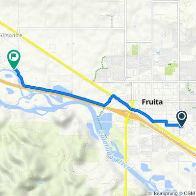Route from 1141 Shady Ln, Fruita