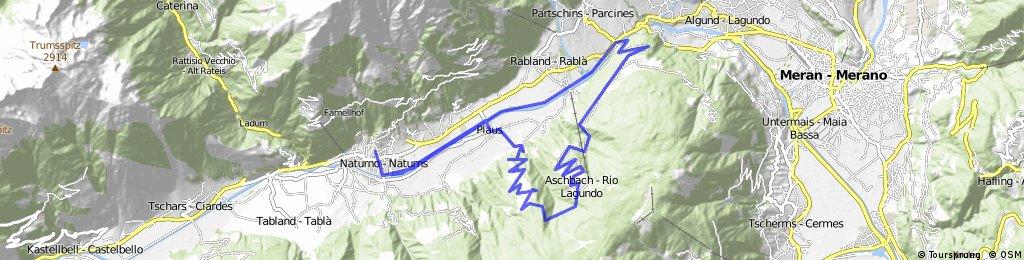 21-Naturns- Plaus- Pirchberg- Feichter- Aschbach- Töll- Rabland- Plaus- Naturns