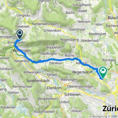 Route von Neuackerstrasse 18B, Ennetbaden