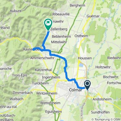 Colmar nach  Riquewihr