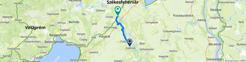 Gábor Áron köz 2., Soponya to Napsugár dűlő 17., Székesfehérvár
