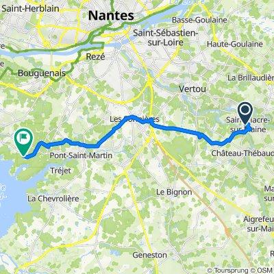 De 15 Rue Sophie Trébuchet, Saint-Fiacre-sur-Maine à 2–8 Impasse des Guifettes, Saint-Aignan-Grandlieu